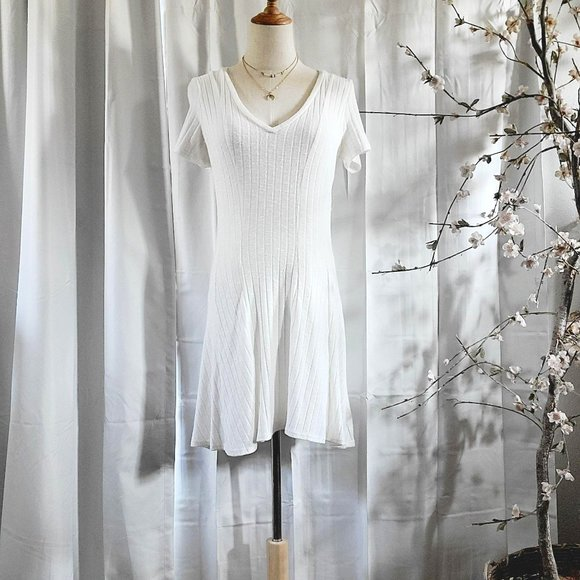 Dolan Anthropologie Ribbed Fit and Flare Mini Dres